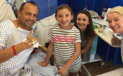 Aunque llevan cinco años separados, donó un riñón al padre de sus hijos